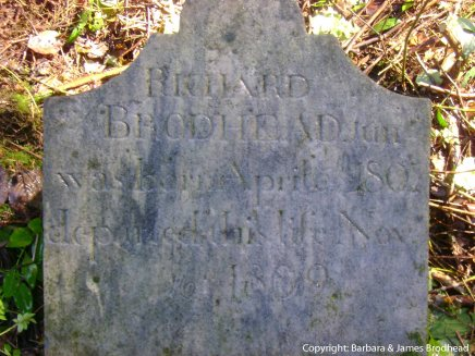 Richard Brodhead Jr. stone, cleaned